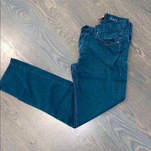 H&M Mens Blue - Green Pants Size 32 Slim Fit Non S